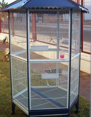 Polygonal Bird Aviary For Pet Birds Of Any Size